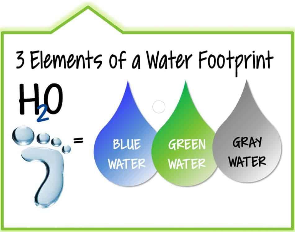 yeşil, mavi ve gri su ayak i̇zi